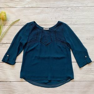 NWOT! Skies are Blue 3/4 Sleeve Blouse